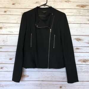 💜ANN TAYLOR black moto jacket